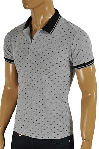 This ARMANI JEANS Men's Polo Shirt in gray color. Each piece of