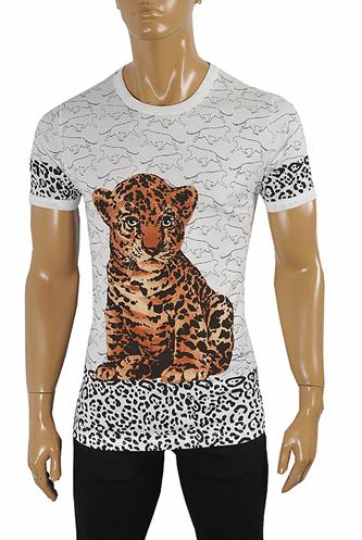 DOLCE & GABBANA T-Shirt with leopard print #253