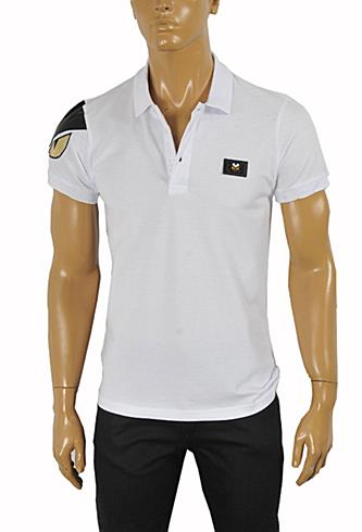 FENDI Men's Polo Shirt In White #22
