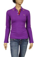 GUCCI Ladies Polo Style Long Sleeve Top #127