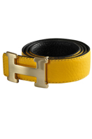 HERMES Men's Leather Reversible Belt #23