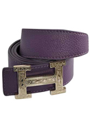 HERMES Men's Leather Reversible Belt #26