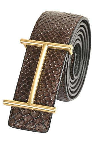 HERMES Men's Leather Reversible Belt #52